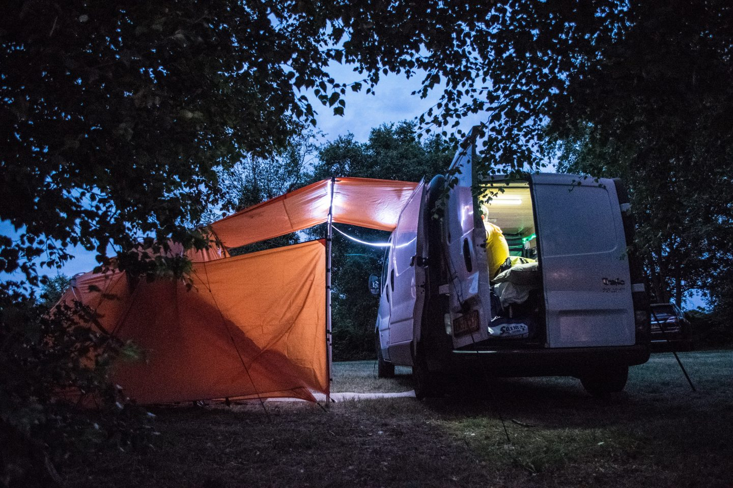 evenings in our campervan
