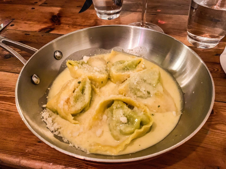 italian spinach and ricotta ravioli