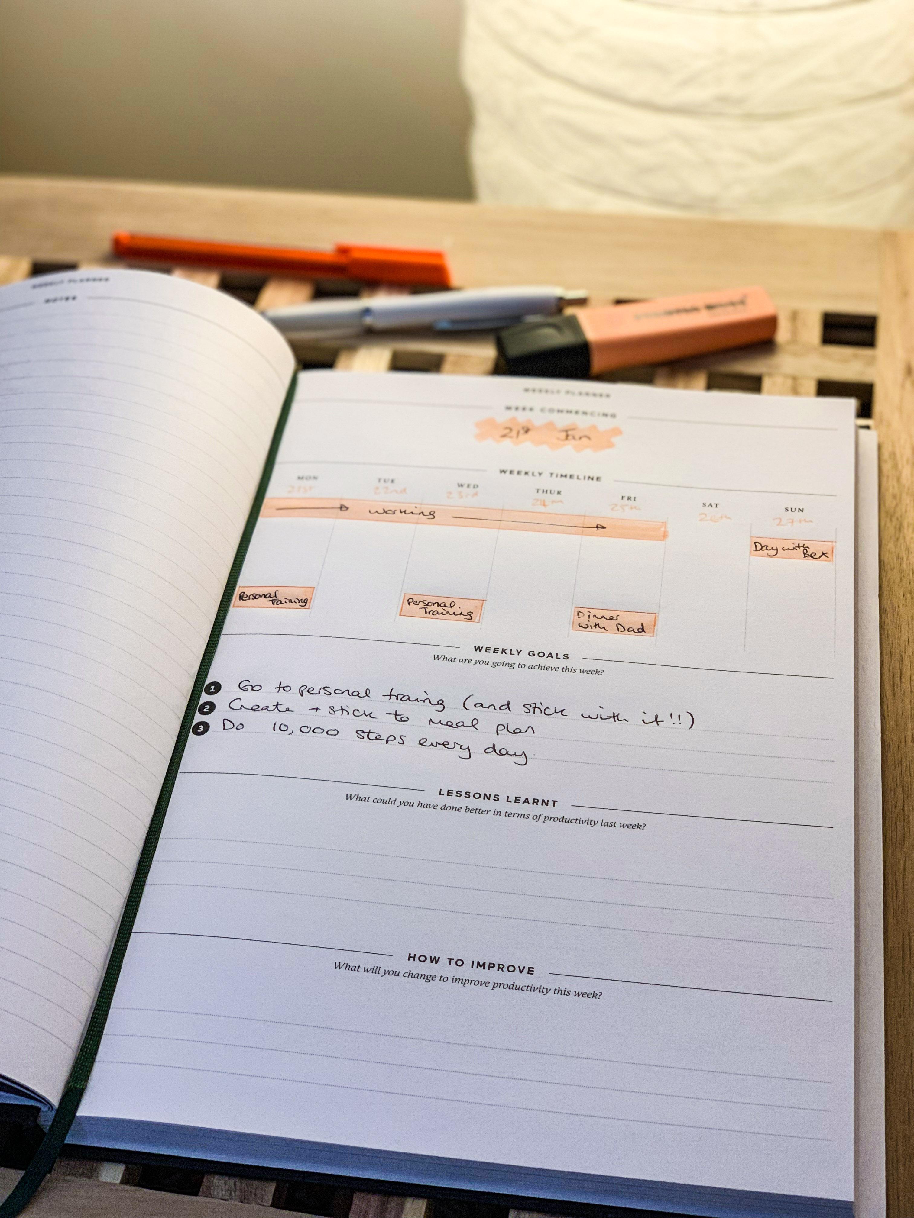 effici weekly planner
