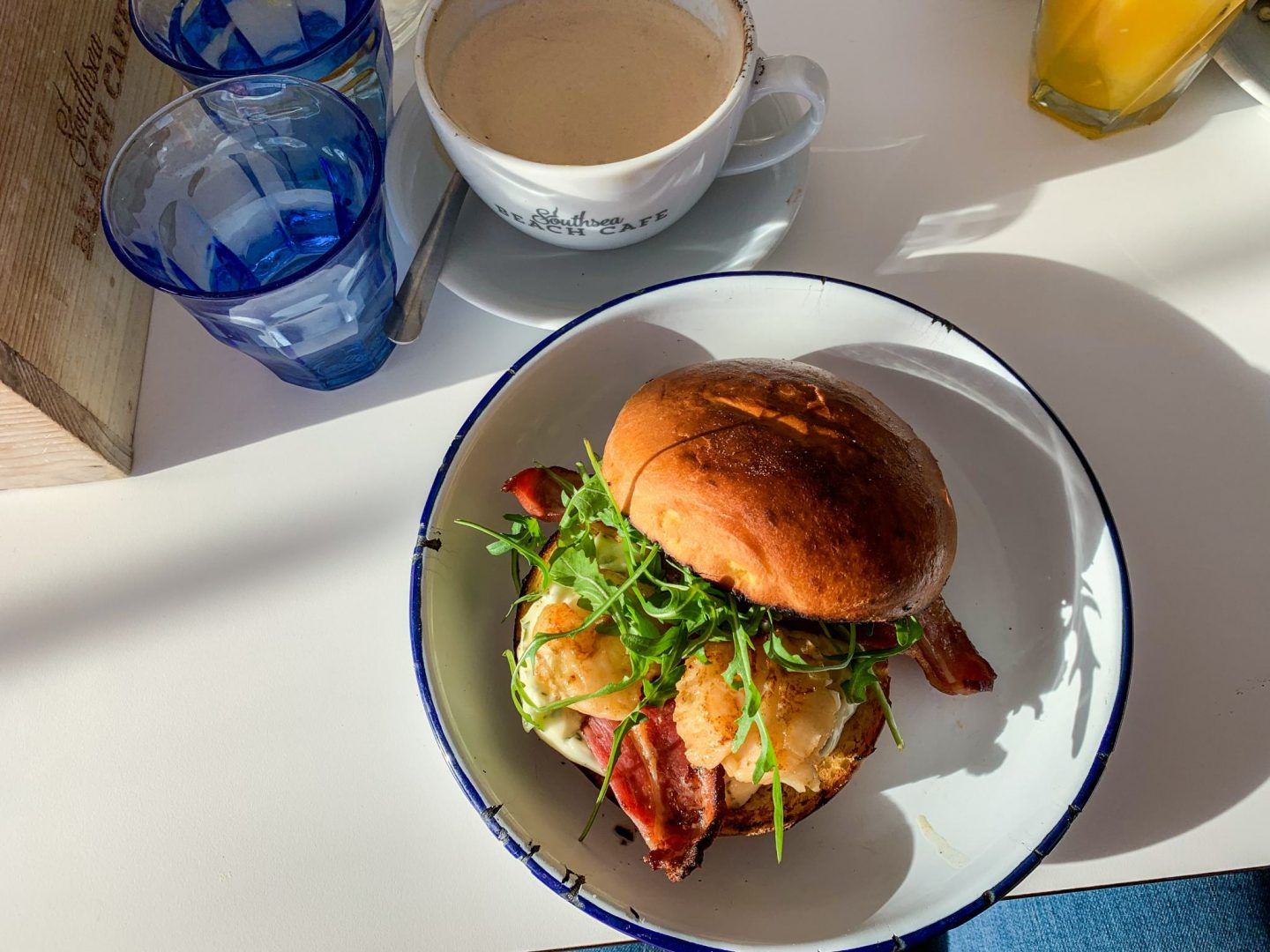 scallop and bacon bap