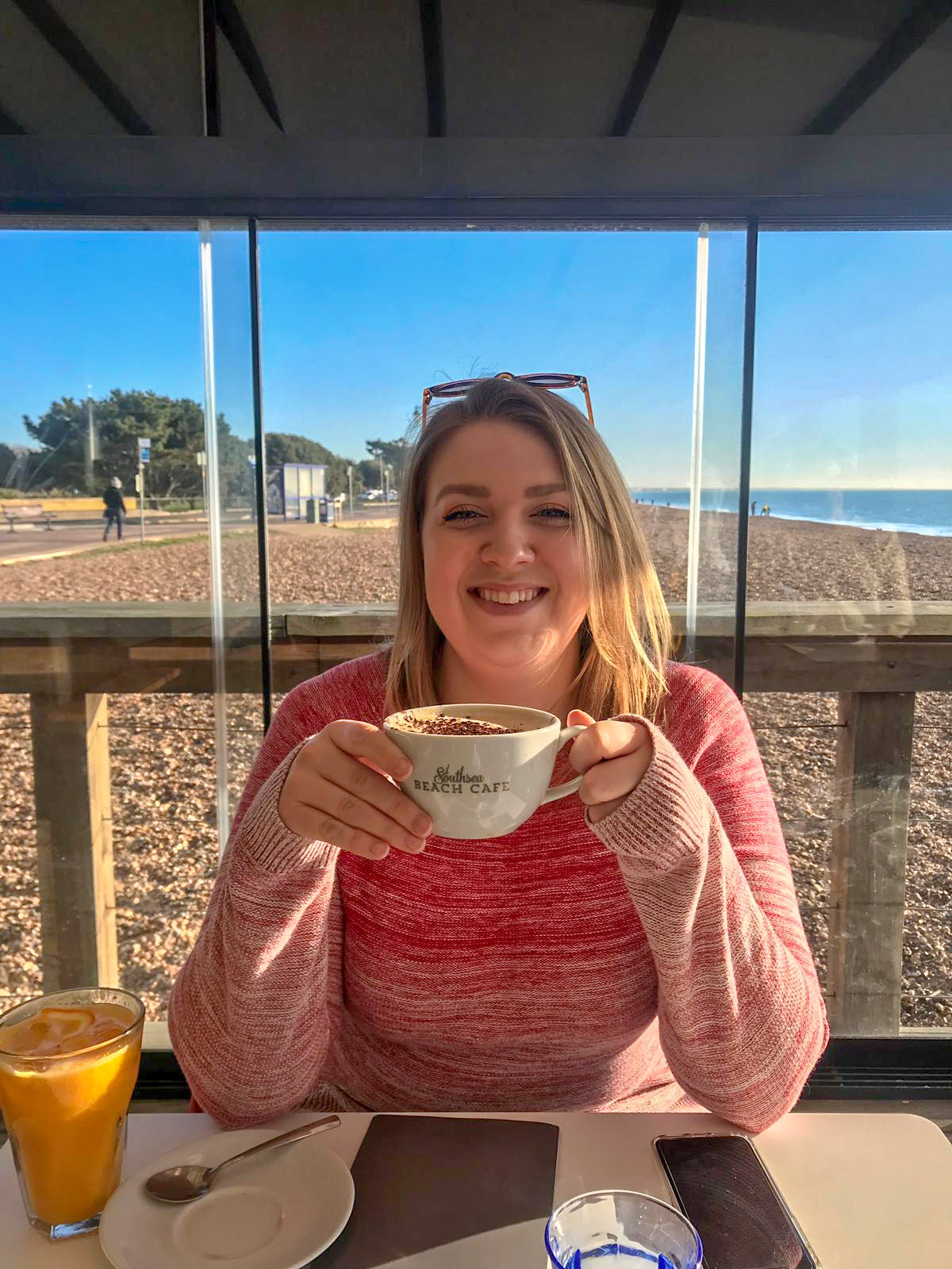 breakfast at southsea beach cafe