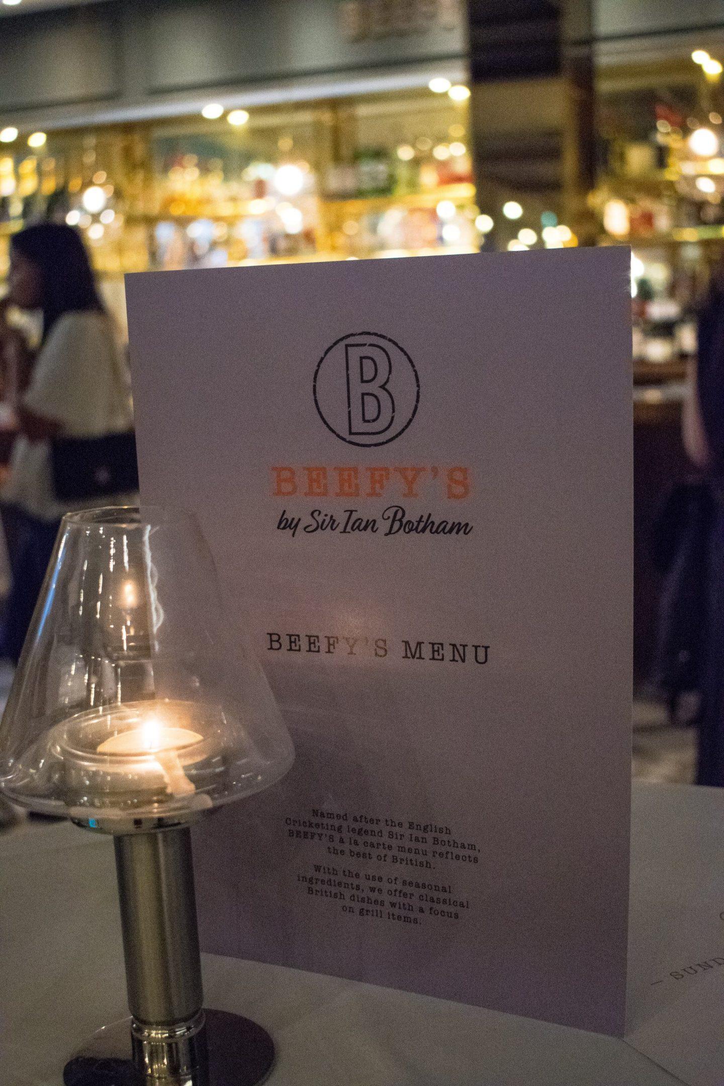 beefy's spring menu