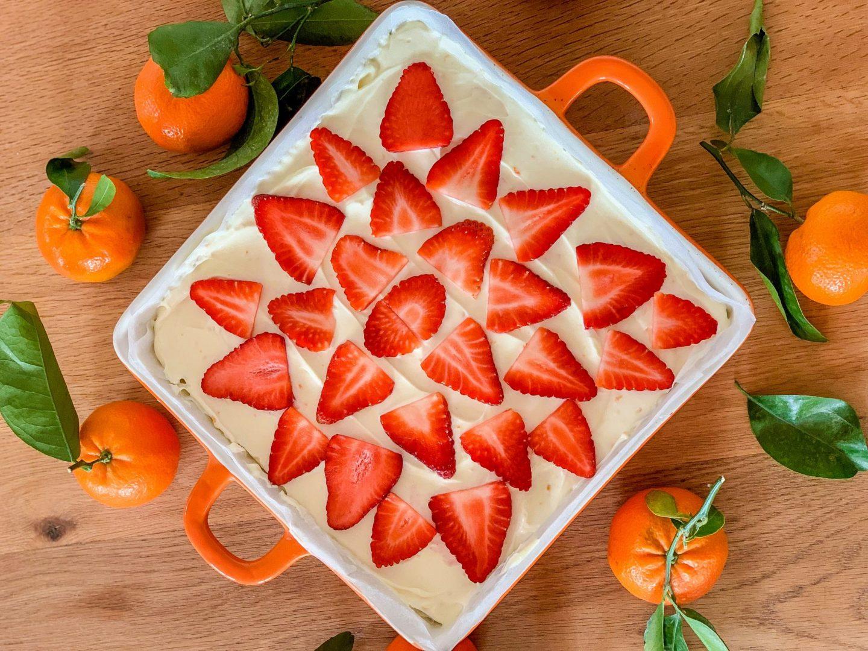 strawberry and clementine cheesecake