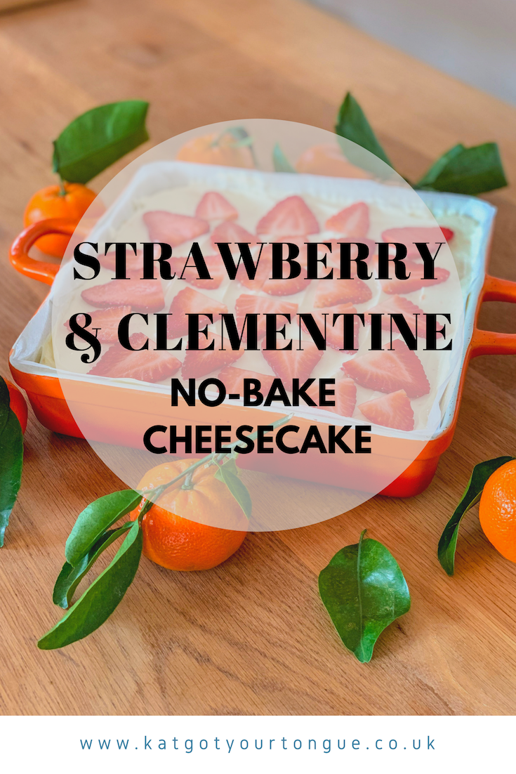 strawberry and clementine no bake cheesecake