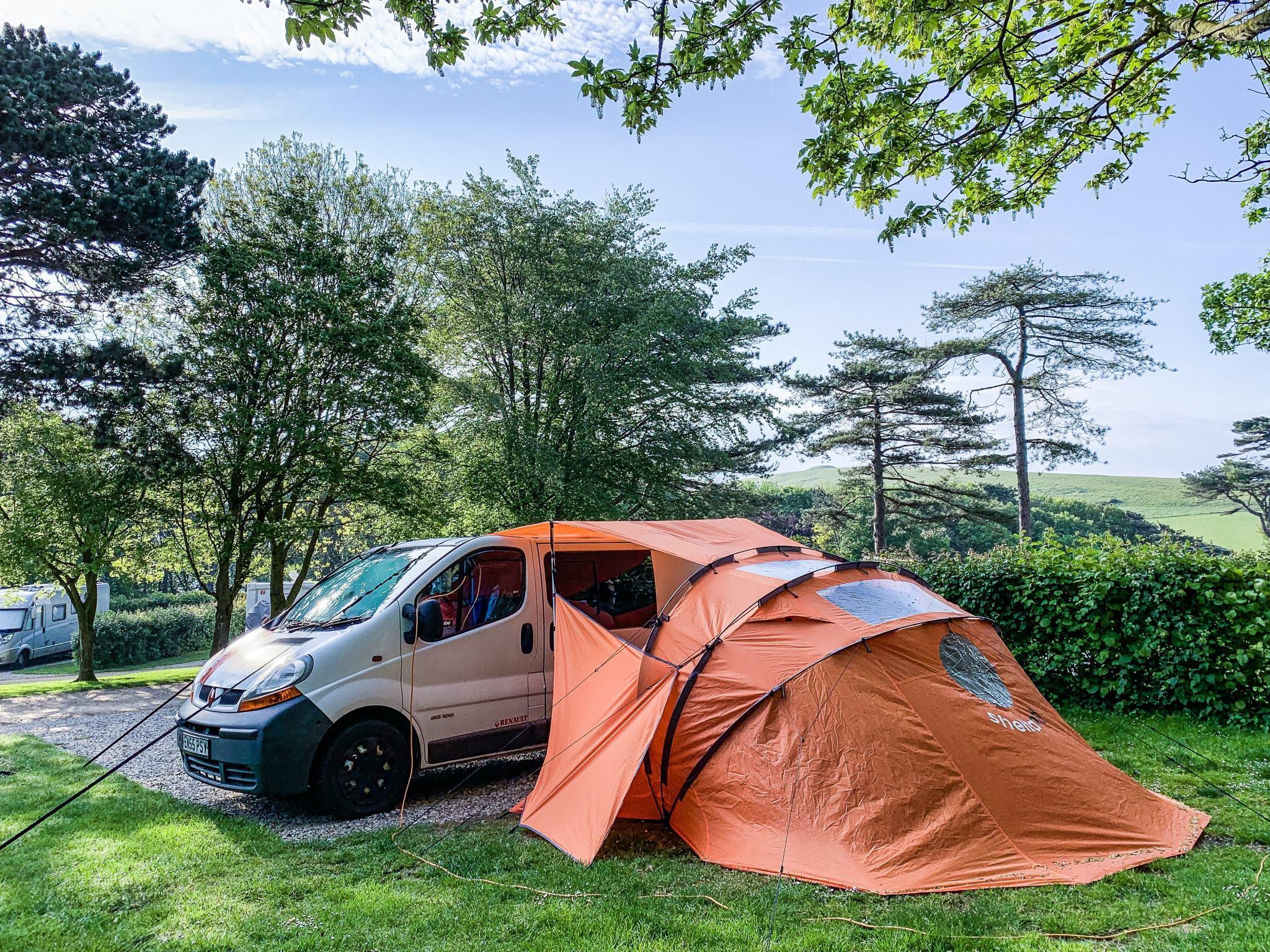 renault trafic camper van and sheltapod