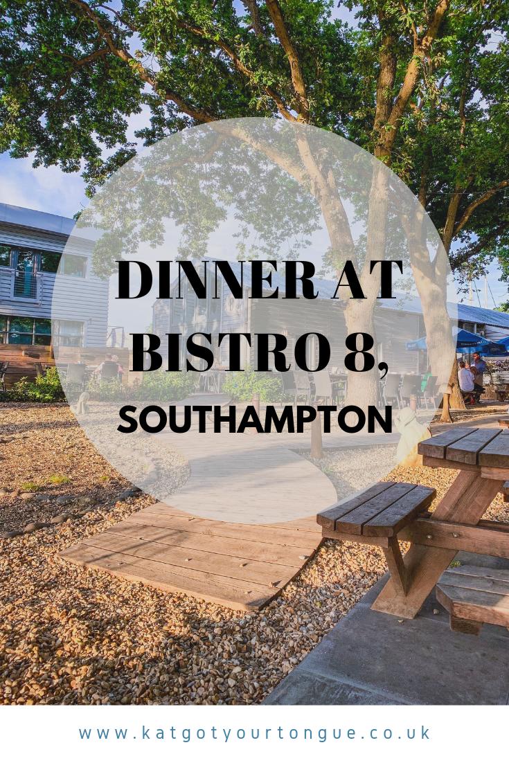 dinner at bistro 8, southampton - kat got your tongue