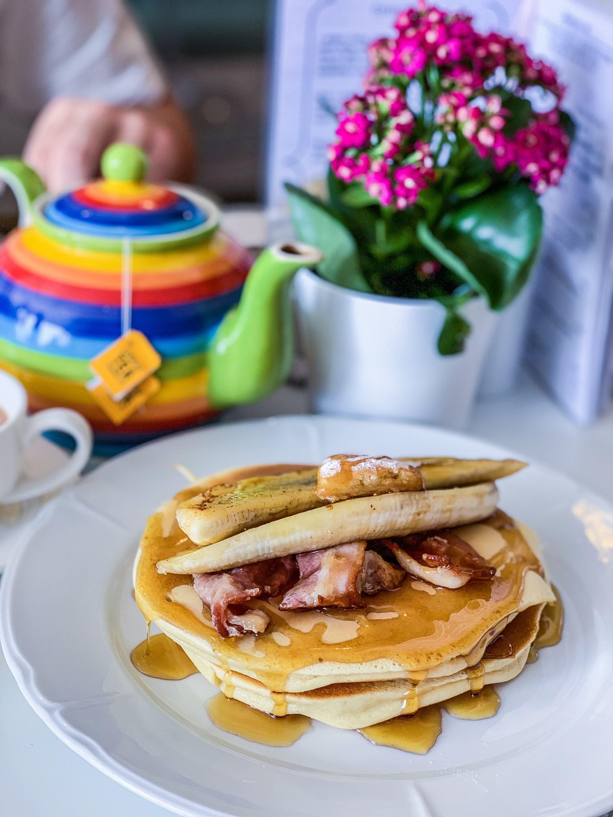 banana and bacon pancakes