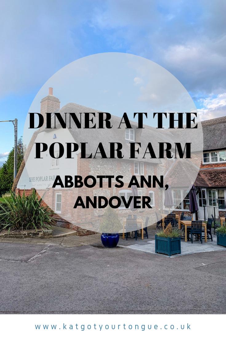 Dinner at The Poplar Farm at Abbotts Ann, Andover