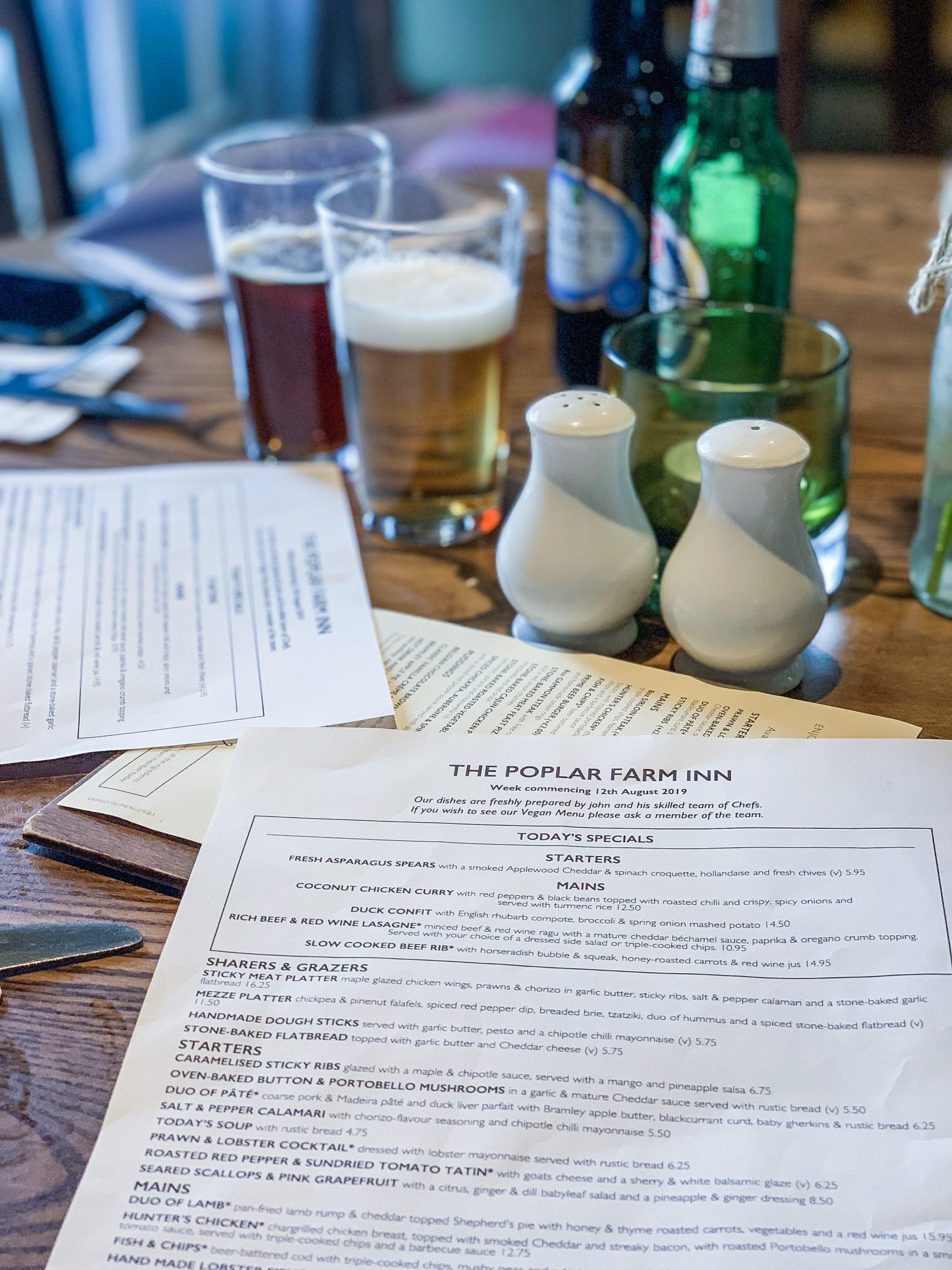 the poplar farm menu