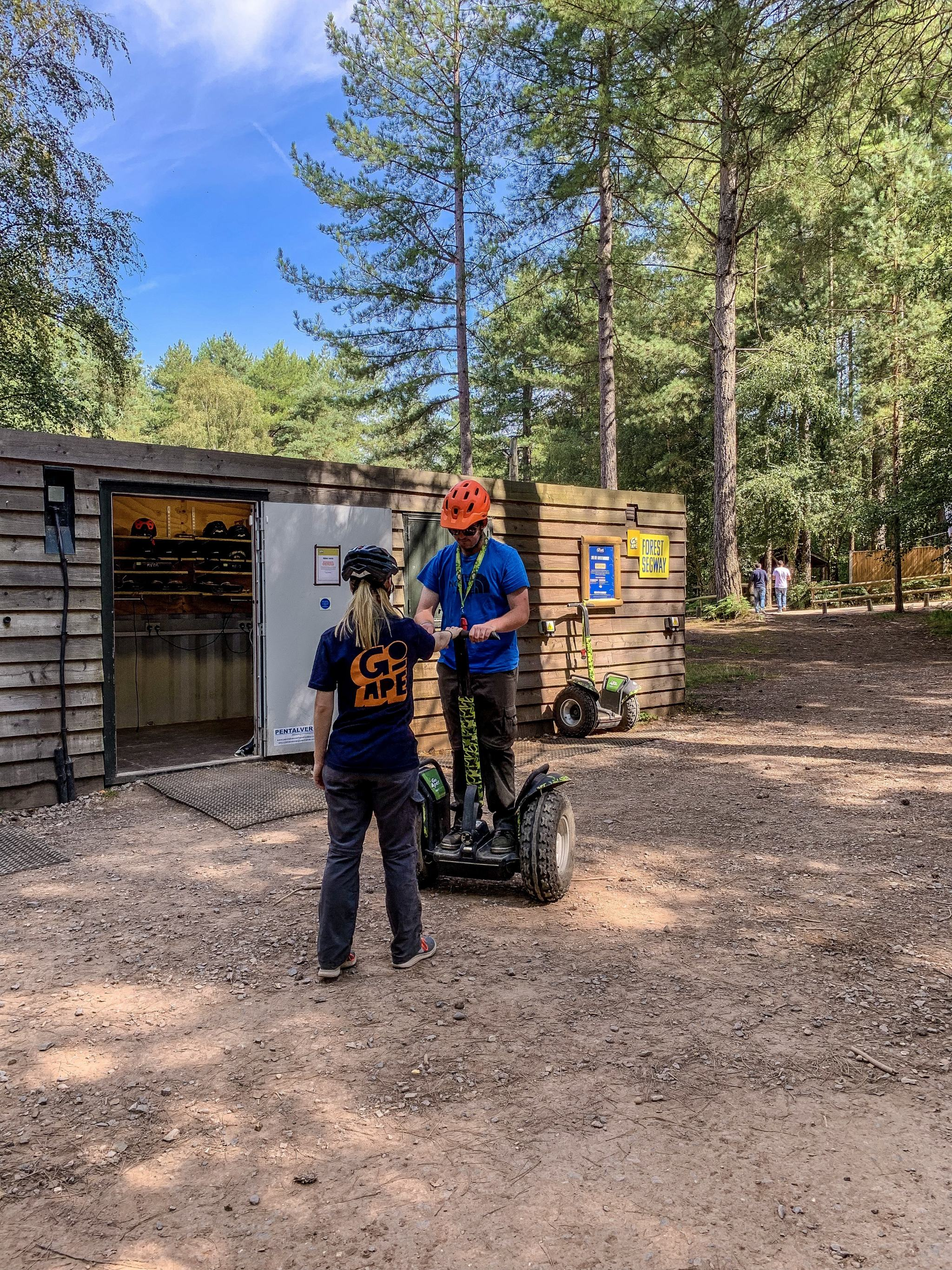 learning to ride segways at go ape