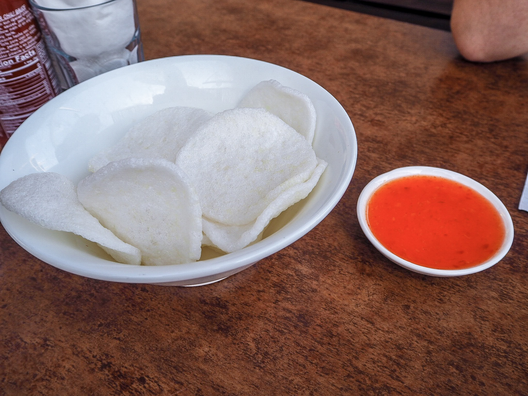 prawn crackers with sweet chilli