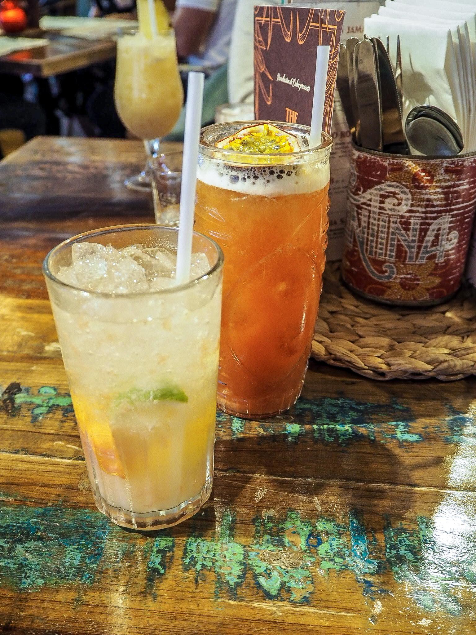 cocktails at revolucion de cuba