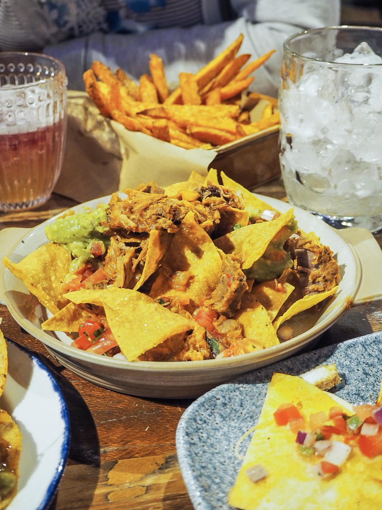 beef nachos at revolucion de cuba