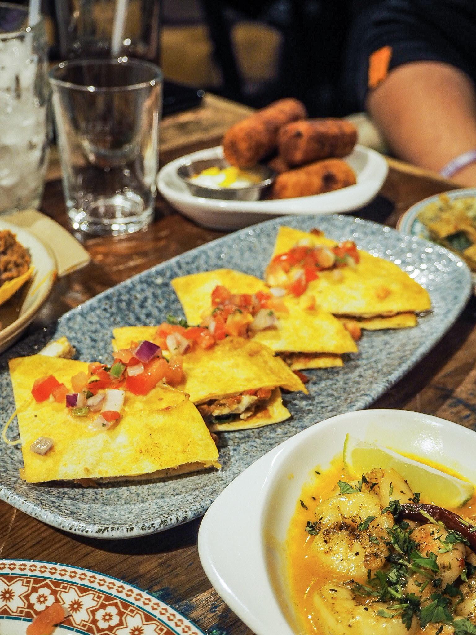 chicken and cheese quesadillas at revolucion de cuba