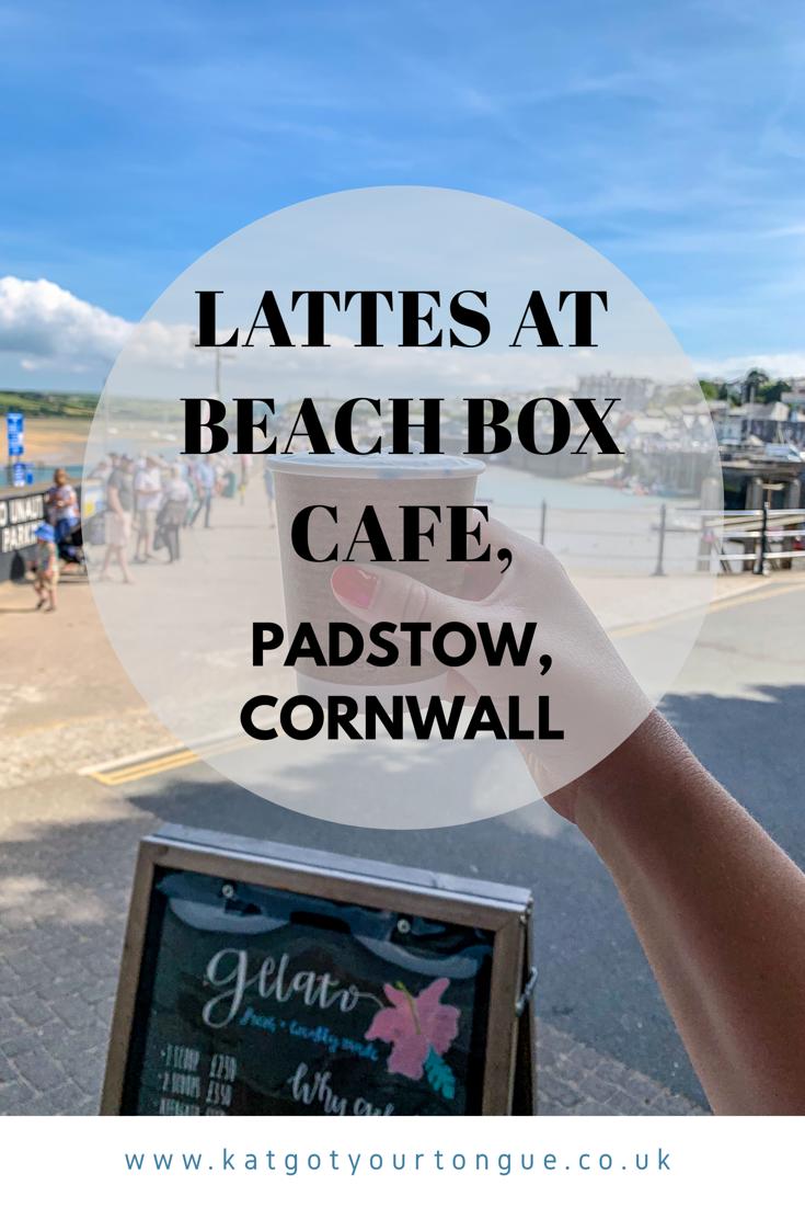 Lattes at Beach Box Cafe, Padstow Cornwall