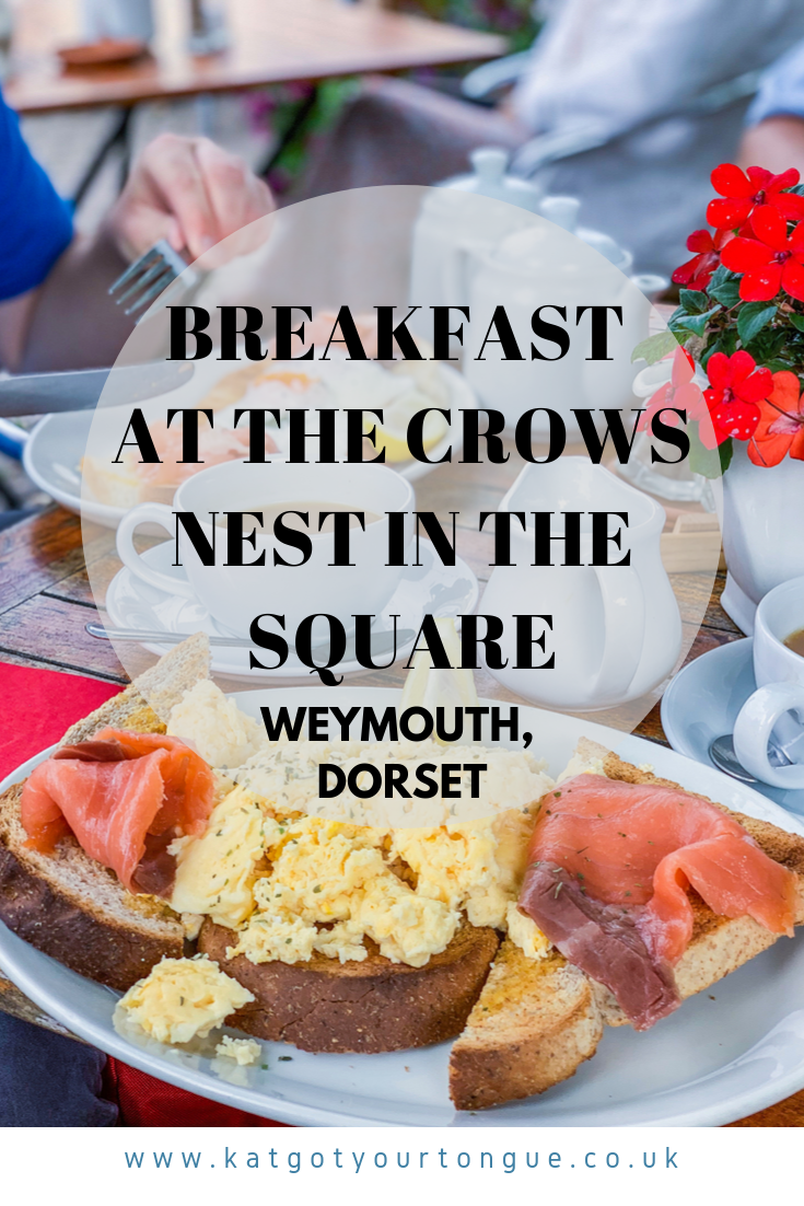 Breakfast at the Crows Nest in the Square, Weymouth