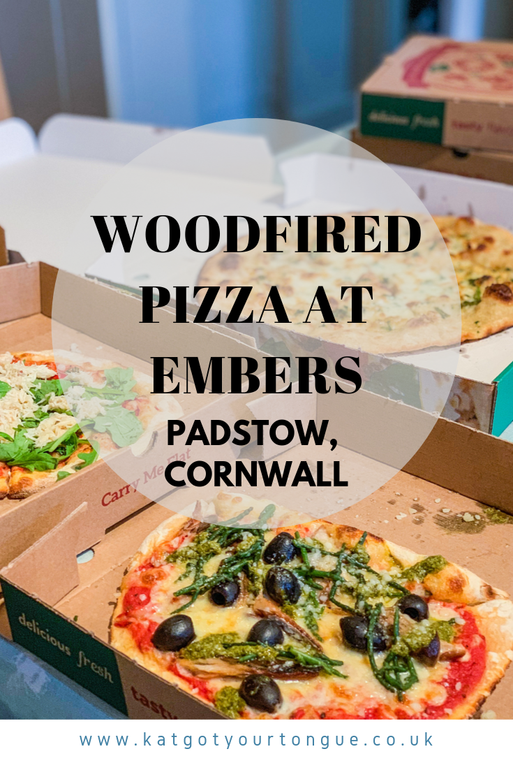 Woodfired Pizza at Embers, Padstow Cornwall