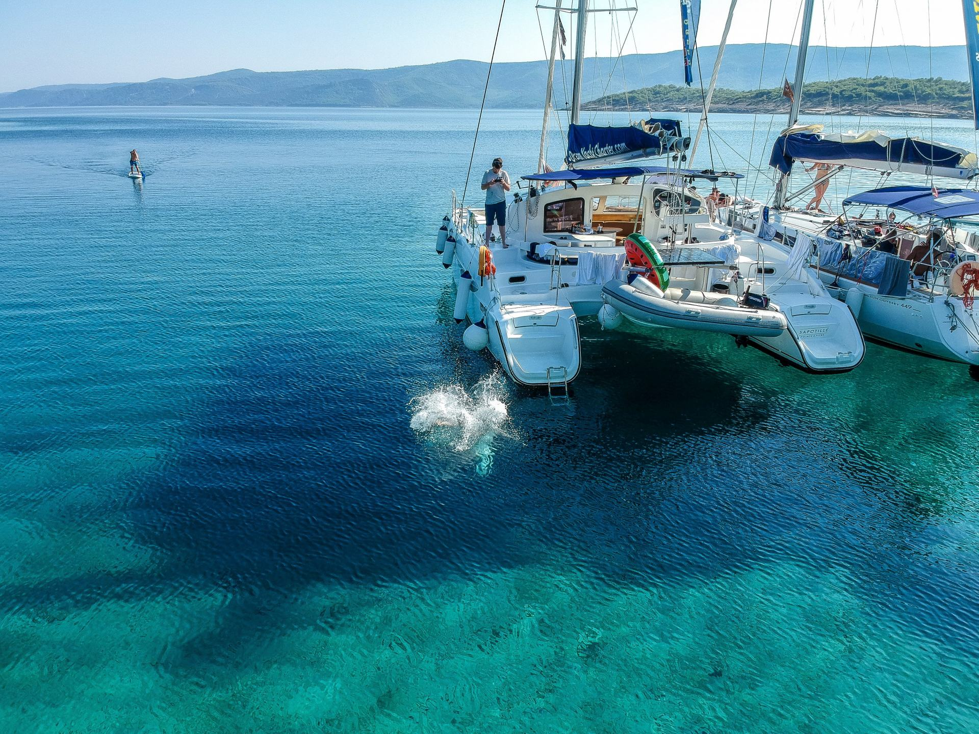 visit croatia to go swimming in clear water