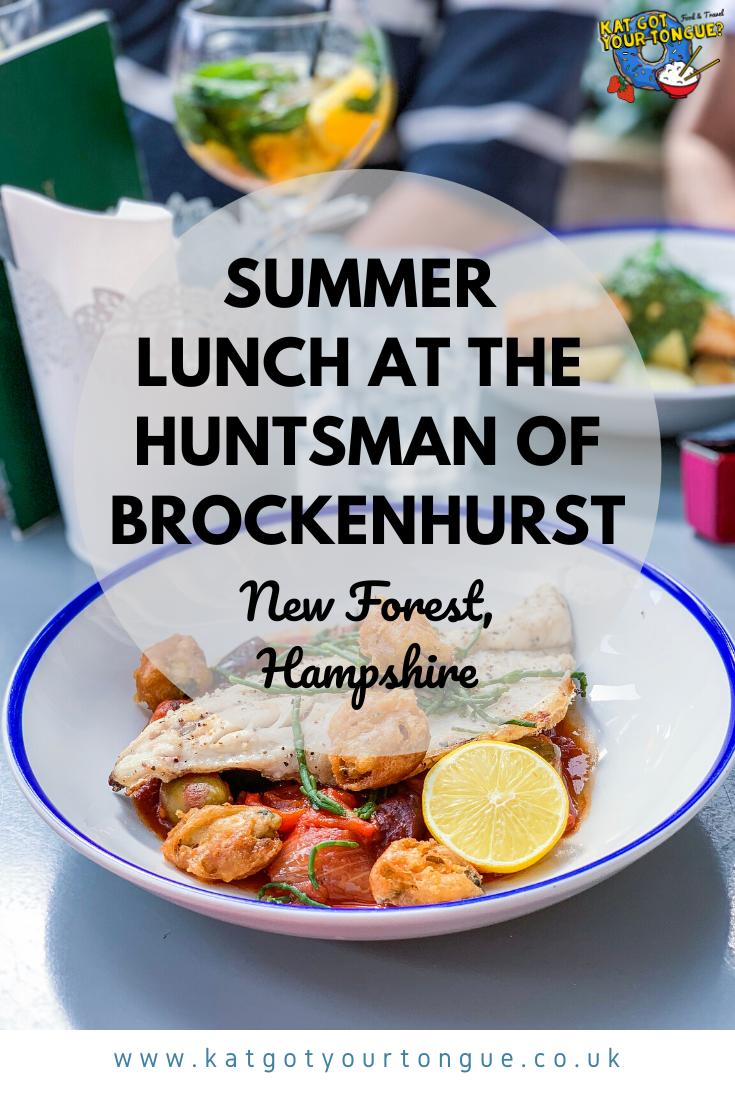 Summer Lunch at The Huntsman of Brockenhurst, New Forest