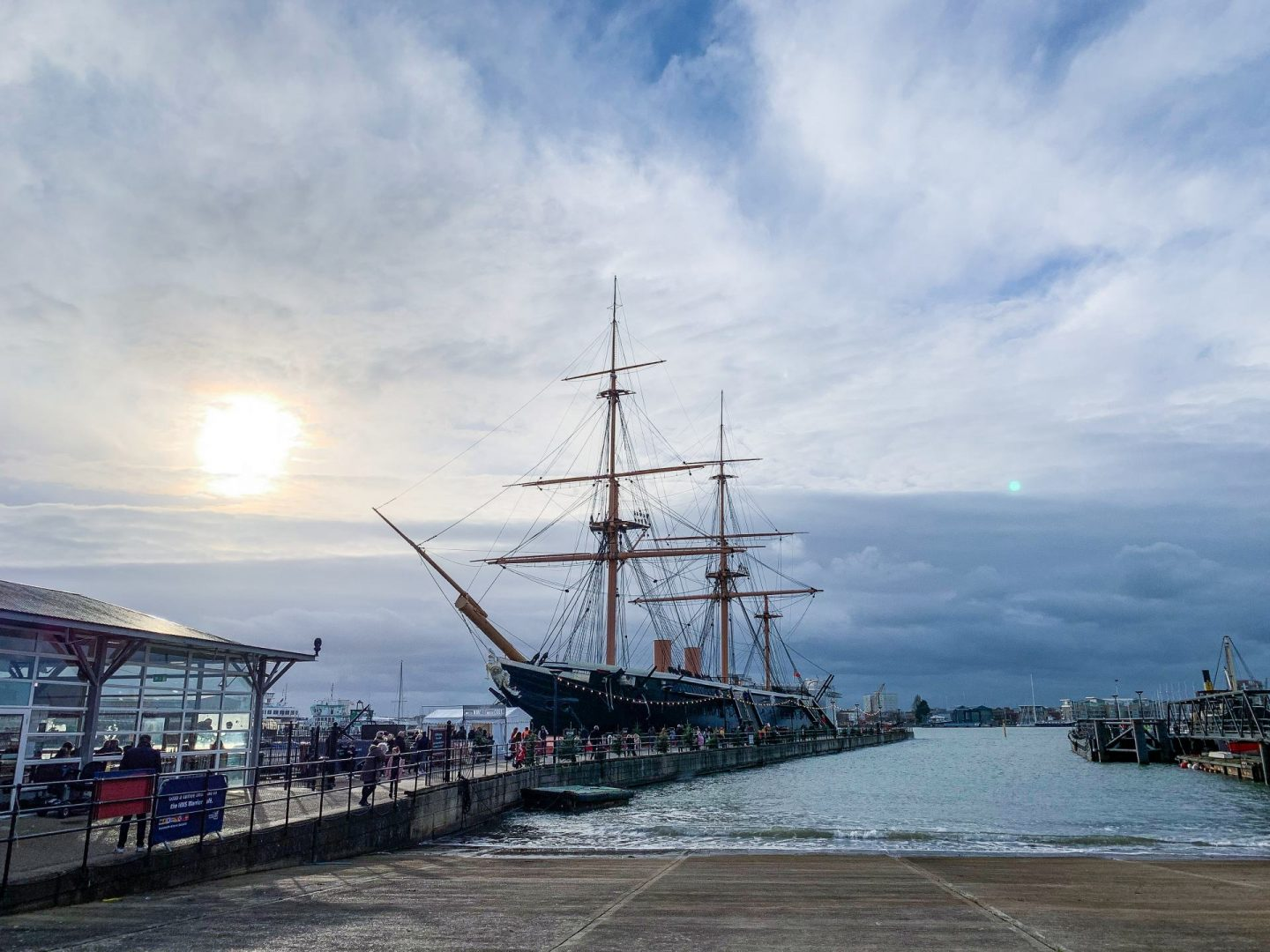 HMS Warrior at Victorian Festival of Christmas at Portsmouth Historic Dockyard